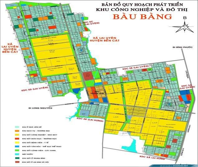 bản đồ khu công nghiệp